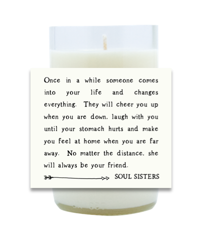 Soul Sisters Hand Poured Soy Candle | Furbish & Fire Candle Co.