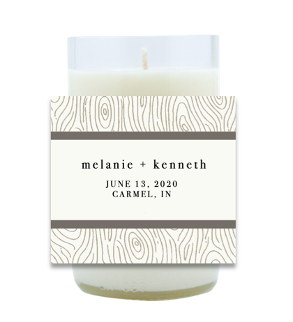 Woodtone Wedding Hand Poured Soy Candle | Furbish & Fire Candle Co.