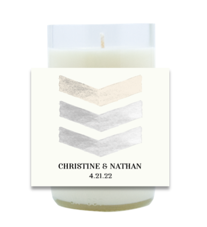 Painted Chevron Hand Poured Soy Candle | Furbish & Fire Candle Co.