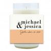 Color Block Wedding Hand Poured Soy Candle | Furbish & Fire Candle Co.