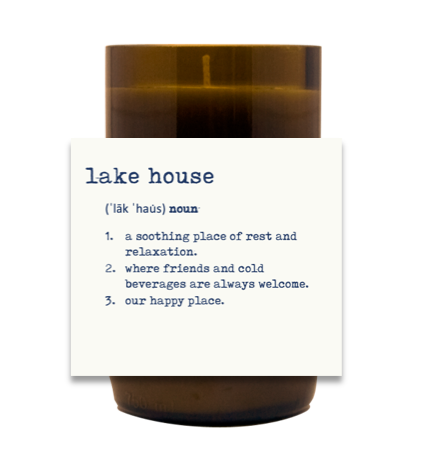 Lake House Hand Poured Soy Candle | Furbish & Fire Candle Co.