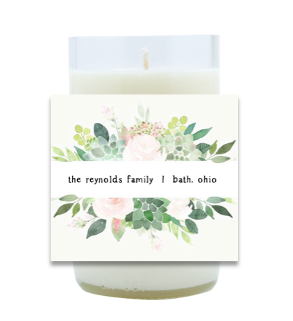 New Home Greenery Hand Poured Soy Candle | Furbish & Fire Candle Co.