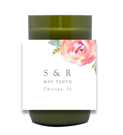 Stately Floral Hand Poured Soy Candle | Furbish & Fire Candle Co.
