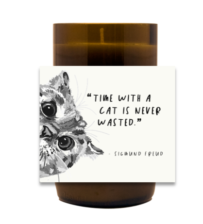 Time With a Cat Hand Poured Soy Candle | Furbish & Fire Candle Co.