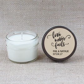 Love Never Fails Hand Poured Soy Candle | Furbish & Fire Candle Co.