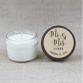Mr. & Mrs. Hand Poured Soy Candle | Furbish & Fire Candle Co.