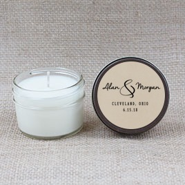 Script & Hand Poured Soy Candle | Furbish & Fire Candle Co.