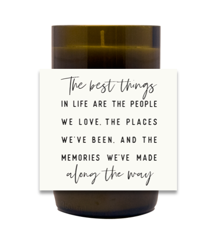 The Best Things In Life Hand Poured Soy Candle | Furbish & Fire Candle Co.
