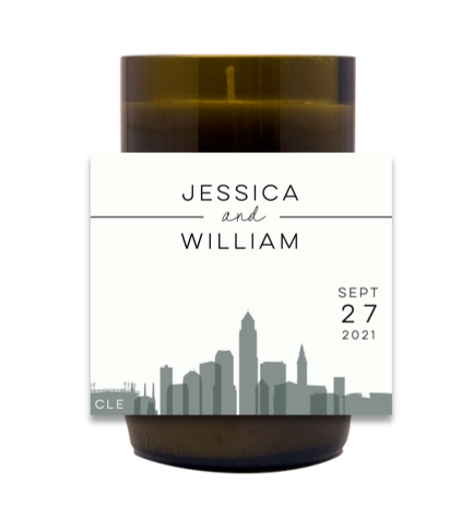 Wedding Skyline Hand Poured Soy Candle | Furbish & Fire Candle Co.