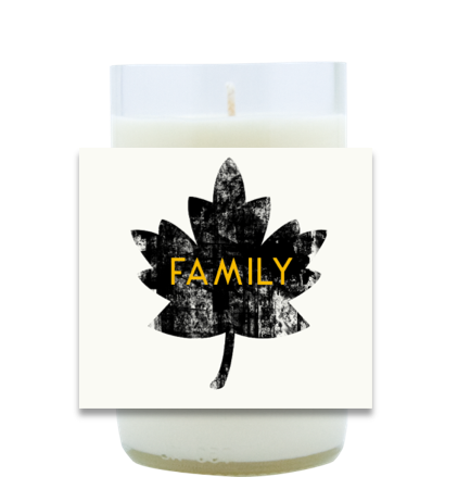 Family Leaf Hand Poured Soy Candle | Furbish & Fire Candle Co.