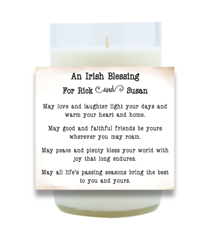 Irish Blessing Hand Poured Soy Candle | Furbish & Fire Candle Co.
