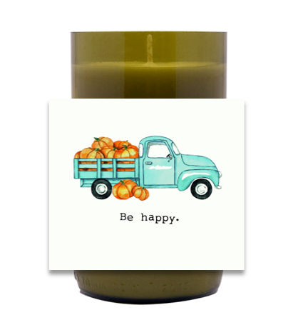 Pumpkin Truck Hand Poured Soy Candle | Furbish & Fire Candle Co.