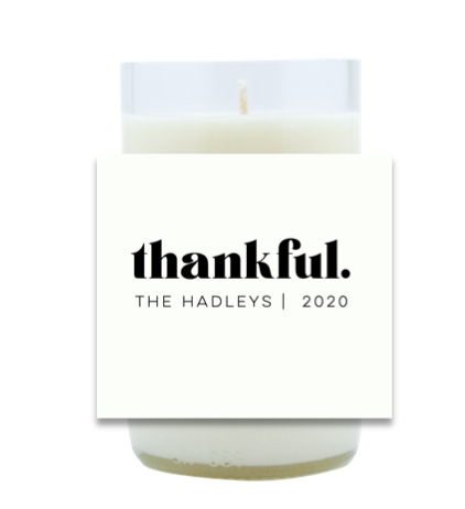 Thankful, Grateful, Blessed Hand Poured Soy Candle | Furbish & Fire Candle Co.