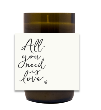 All You Need Is Love Hand Poured Soy Candle | Furbish & Fire Candle Co.