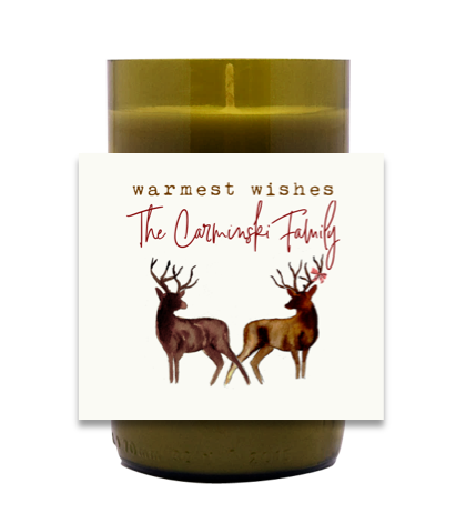 Watercolor Deer Hand Poured Soy Candle | Furbish & Fire Candle Co.