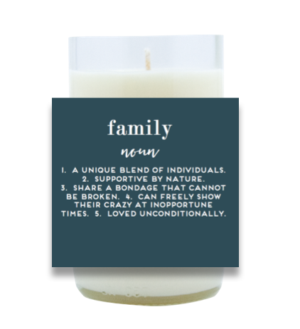 Family Definition Hand Poured Soy Candle | Furbish & Fire Candle Co.