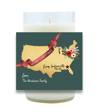 USA Holiday Message Hand Poured Soy Candle | Furbish & Fire Candle Co.