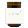 A Simple Word Hand Poured Soy Candle | Furbish & Fire Candle Co.