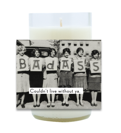 Bad Ass Hand Poured Soy Candle | Furbish & Fire Candle Co.