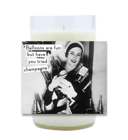 Balloons and Champagne Hand Poured Soy Candle | Furbish & Fire Candle Co.