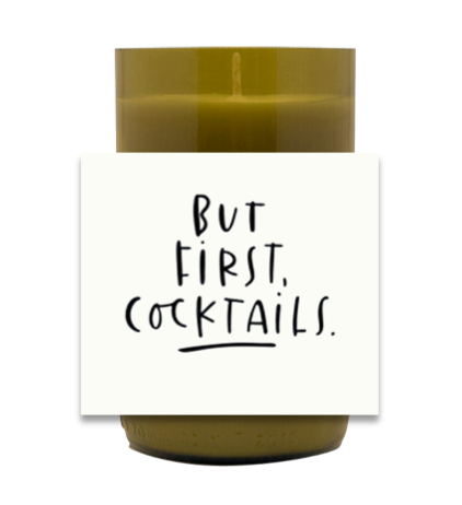 But First, Cocktails Hand Poured Soy Candle | Furbish & Fire Candle Co.