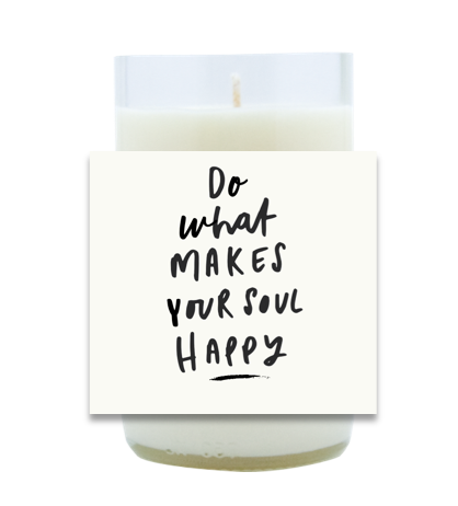 Soul Happy Hand Poured Soy Candle | Furbish & Fire Candle Co.