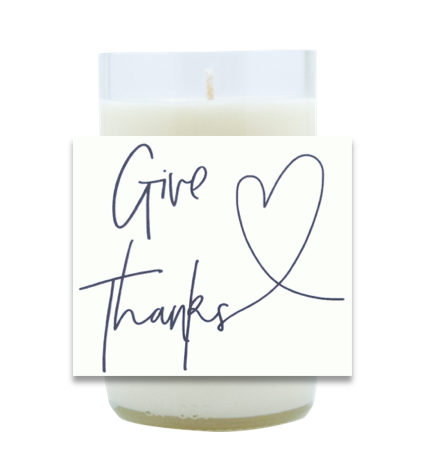 Give Thanks Heart Poured Soy Candle | Furbish & Fire Candle Co.