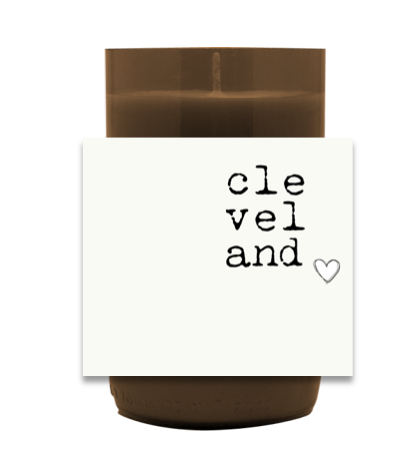 My Heart Is In CLE Hand Poured Soy Candle | Furbish & Fire Candle Co.