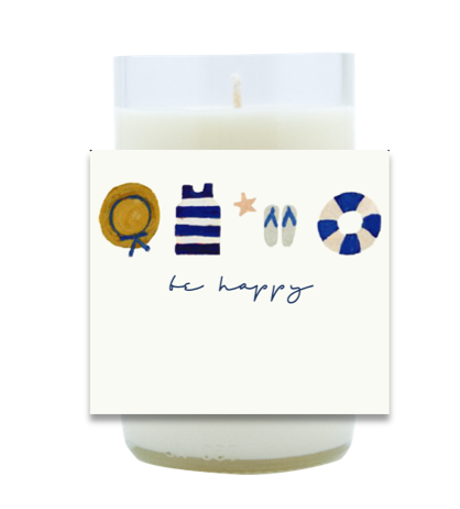 Navy Summer Hand Poured Soy Candle | Furbish & Fire Candle Co.