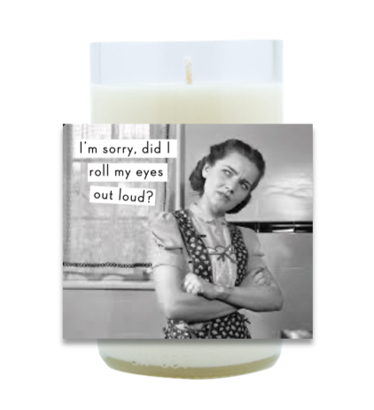 Roll My Eyes Hand Poured Soy Candle | Furbish & Fire Candle Co.