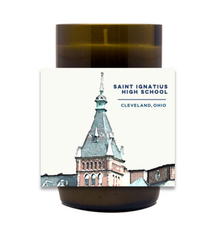 St. Ignatius Tower Hand Poured Soy Candle | Furbish & Fire Candle Co.