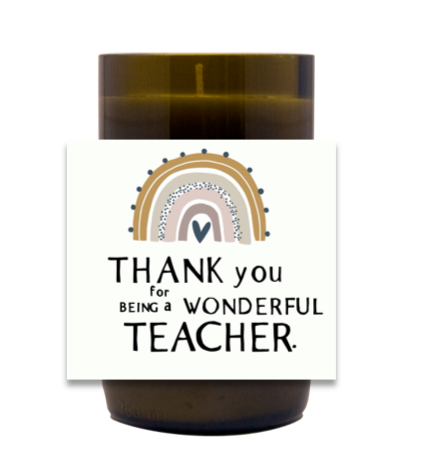 Wonderful Teacher Hand Poured Soy Candle | Furbish & Fire Candle Co.