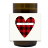 Buffalo Check Heart Hand Poured Soy Candle | Furbish & Fire Candle Co.
