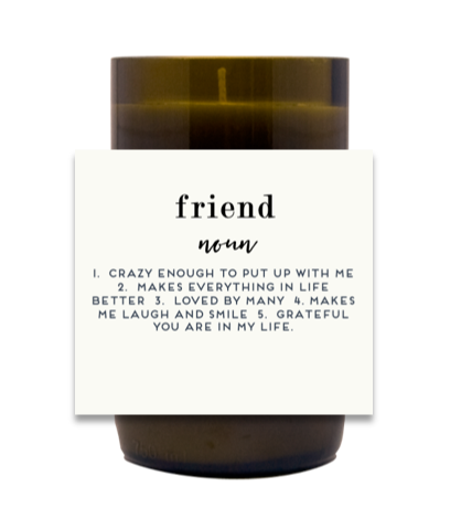 Friend Wine Hand Poured Soy Candle | Furbish & Fire Candle Co.