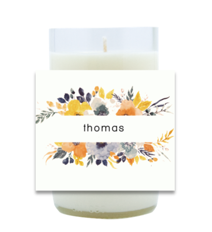 Floral Hand Poured Soy Candle | Furbish & Fire Candle Co.