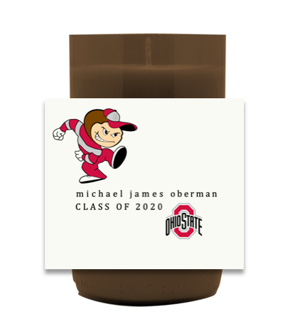 Ohio State Grad Hand Poured Soy Candle | Furbish & Fire Candle Co.