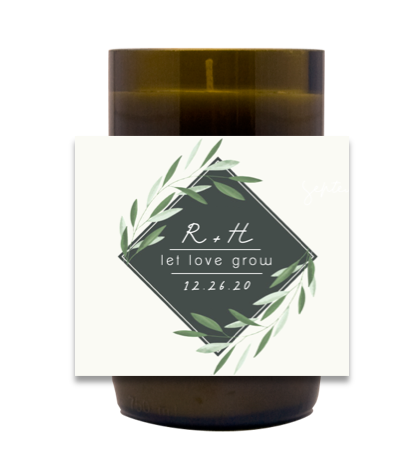 Let Love Grow Wedding Hand Poured Soy Candle | Furbish & Fire Candle Co.