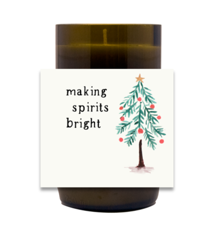 Making Spirits Bright Hand Poured Soy Candle | Furbish & Fire Candle Co.