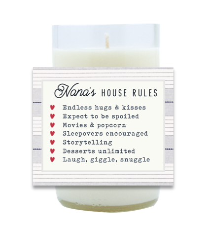 Nana's House Rules Hand Poured Soy Candle | Furbish & Fire Candle Co.