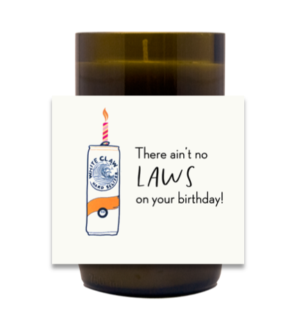 White Claw Birthday Hand Poured Soy Candle | Furbish & Fire Candle Co.