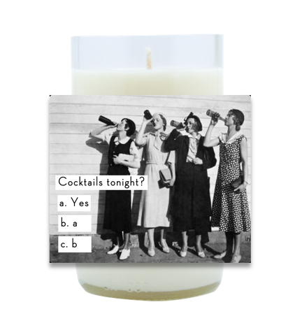 Cocktails Tonight Hand Poured Soy Candle | Furbish & Fire Candle Co.