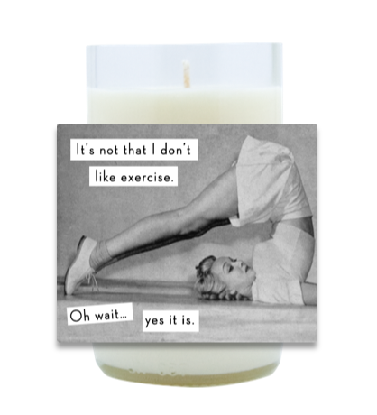 Exercise Hand Poured Soy Candle | Furbish & Fire Candle Co.
