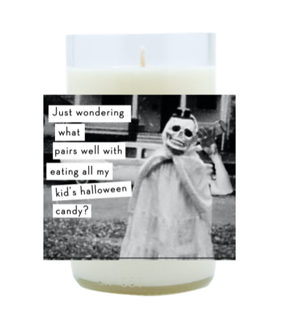Kid's Halloween Candy Hand Poured Soy Candle | Furbish & Fire Candle Co.