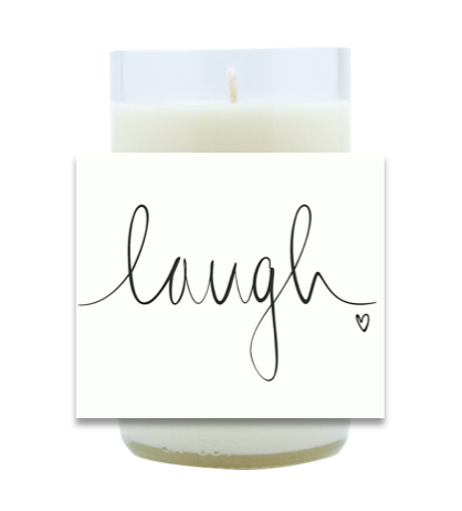 Laugh Hand Poured Soy Candle | Furbish & Fire Candle Co.