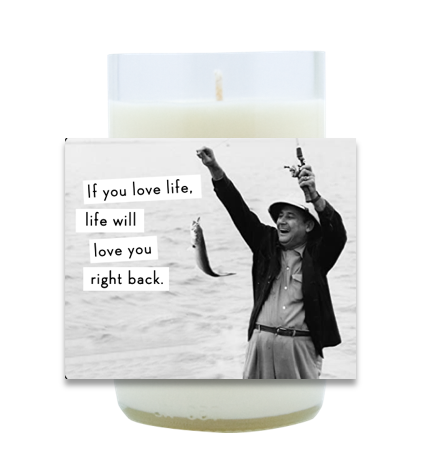 Love Life Hand Poured Soy Candle | Furbish & Fire Candle Co.