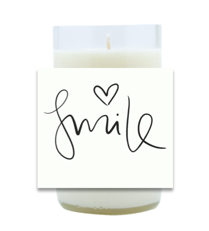 Smile Hand Poured Soy Candle | Furbish & Fire Candle Co.