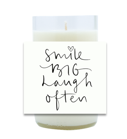 Smile Big, Laugh Often Hand Poured Soy Candle | Furbish & Fire Candle Co.