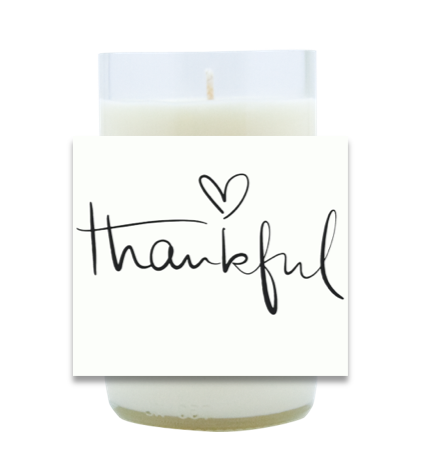 Thankful Script Hand Poured Soy Candle | Furbish & Fire Candle Co.