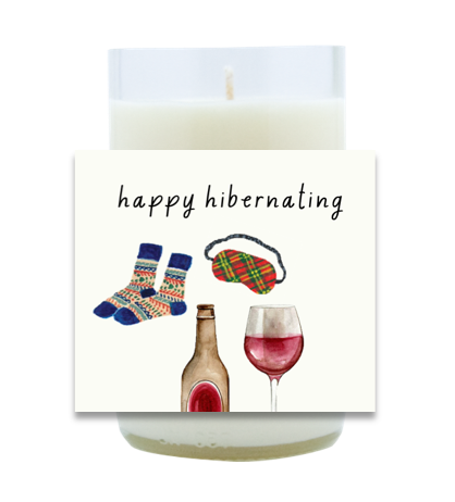 Happy Hibernating Hand Poured Soy Candle | Furbish & Fire Candle Co.
