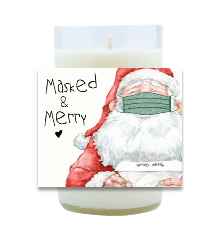 Masked and Merry Hand Poured Soy Candle | Furbish & Fire Candle Co.